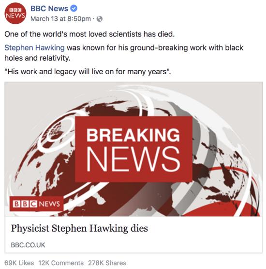 Исследование: как новый алгоритм Facebook повлиял на новостные материалы