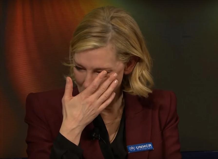 Кейт Бланшетт розплакалася, розповідаючи про біженців