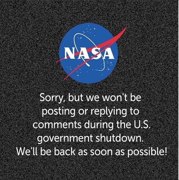 NASA тимчасово призупинило роботу