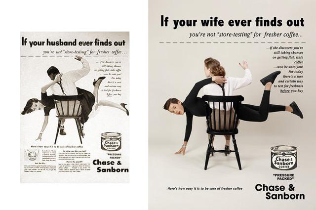 Ліванський художник поміняв місцями чоловіка і жінку на старих сексистських плакатах